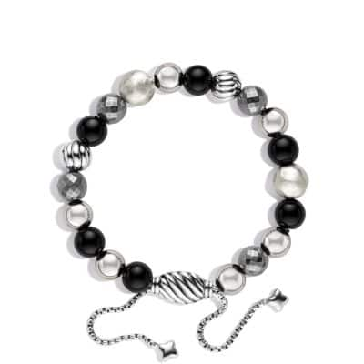 DY Elements Bracelet with Black Onyx and Hematine, 8mm