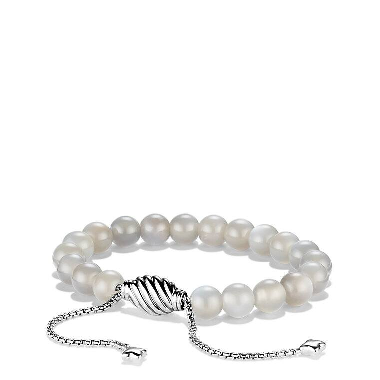 Spiritual Beads Bracelet with Gray Moonstone