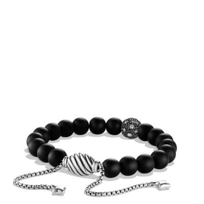 Spiritual Beads Bracelet with Black Onyx and Diamonds