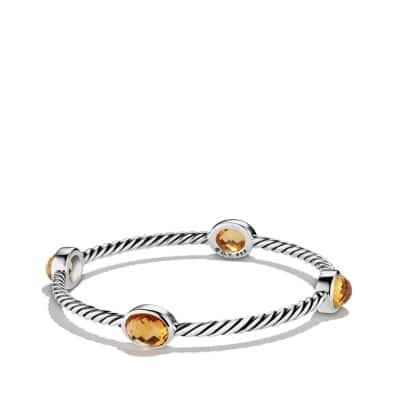 Color Classics Four-Station Bangle with Citrine
