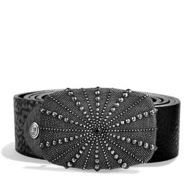 Naturals Sea Urchin Belt Buckle with Black Diamonds