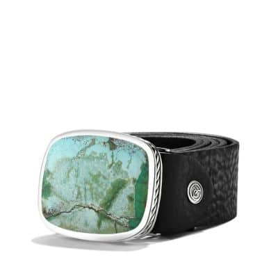 Exotic Stone Belt Buckle with Turquoise