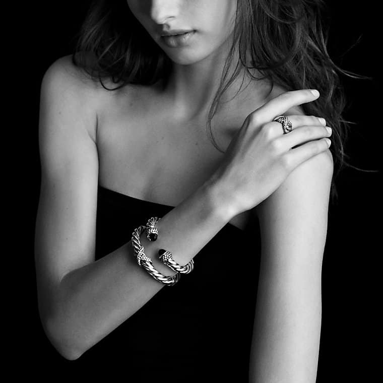 Cable Classics Bracelet with Hematine and Diamonds