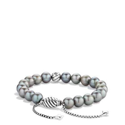Spiritual Beads Bracelet with Gray Pearls