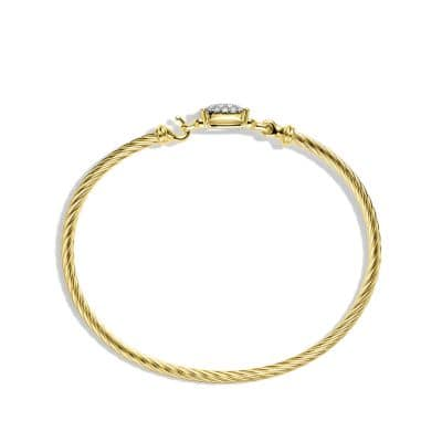 Petite Wheaton Bracelet with Diamonds in 18K Gold, 3mm