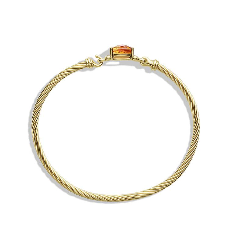 Petite Wheaton Bracelet with Citrine and Diamonds in Gold