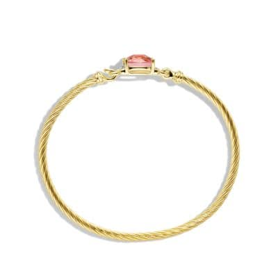 Petite Wheaton Bracelet with Morganite and Diamonds in 18K Gold