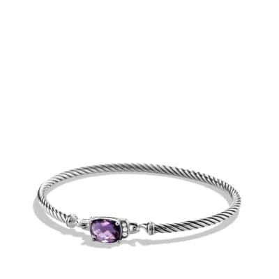 Petite Wheaton Bracelet with Amethyst and Diamonds