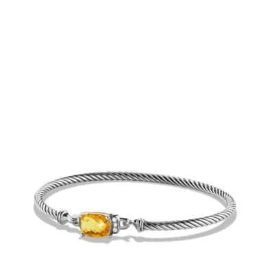 Petite Wheaton Bracelet with Citrine and Diamonds