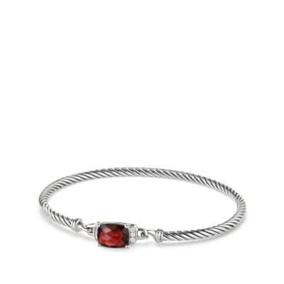 Petite Wheaton Bracelet with Garnet and Diamonds