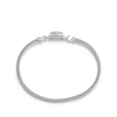 Petite Wheaton Bracelet with Diamonds, 3mm