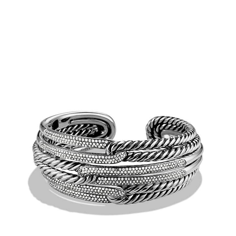 Labyrinth Triple-Loop Cuff Bracelet Bracelet with Diamonds