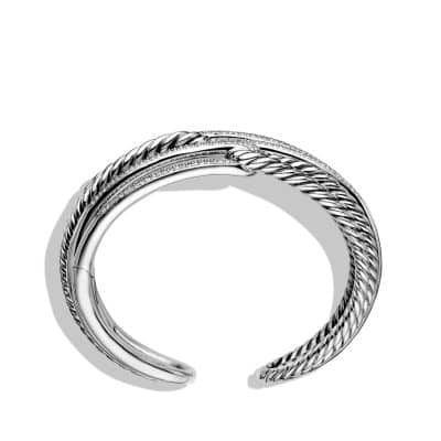 Labyrinth Triple-Loop Cuff Bracelet Bracelet with Diamonds, 28mm