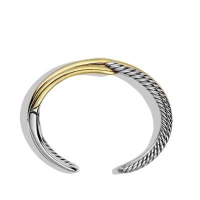 Labyrinth Double-Loop Cuff Bracelet Bracelet with Gold