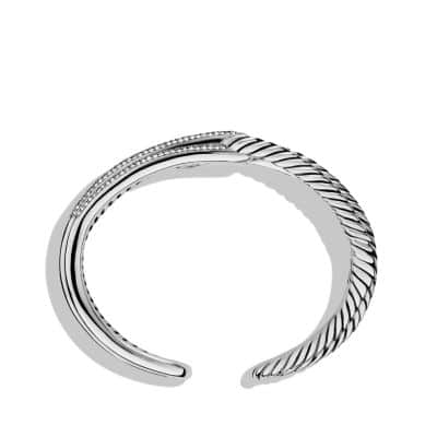 Labyrinth Double-Loop Cuff Bracelet Bracelet with Diamonds, 19mm