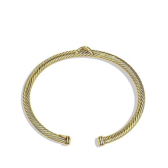 X Bracelet with Diamonds in Gold