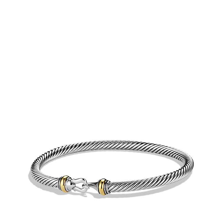 Cable Classic Buckle Bracelet with Gold