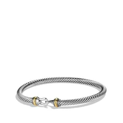 Cable Classic Buckle Bracelet with Gold thumbnail