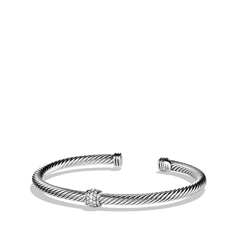 Cable Classics Bracelet with Diamonds, 4mm