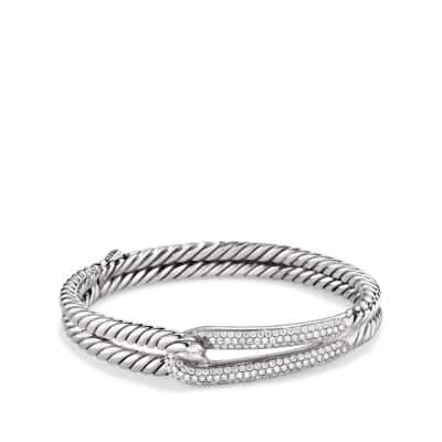 Labyrinth® Single-Loop Bracelet with Diamonds, 10mm