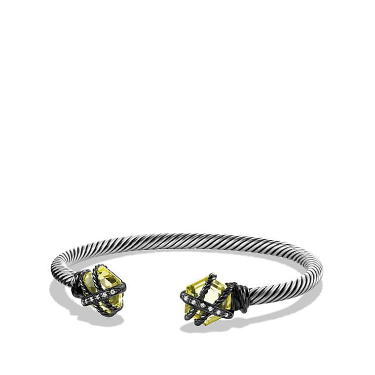 Cable Wrap Bracelet with Lemon Citrine and Diamonds