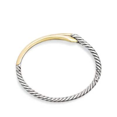 Labyrinth Single-Loop Bracelet with 18K Gold, 10mm