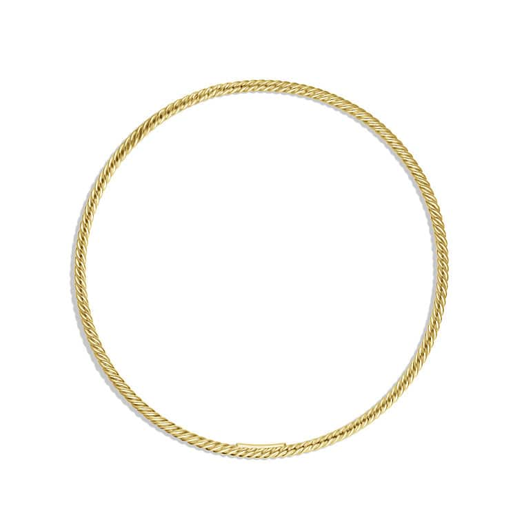 Cable Classics Bangle in Gold