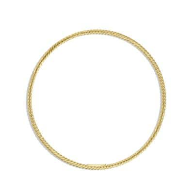 Cable Classics Bangle in 18K Gold