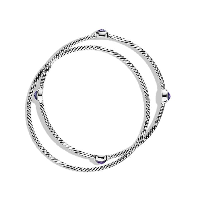 Color Classics Bangles with Amethyst