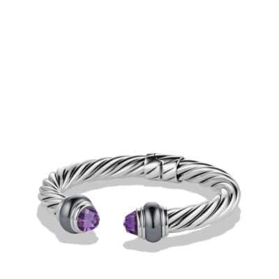 Cable Classics Bracelet with Amethyst and Hematine
