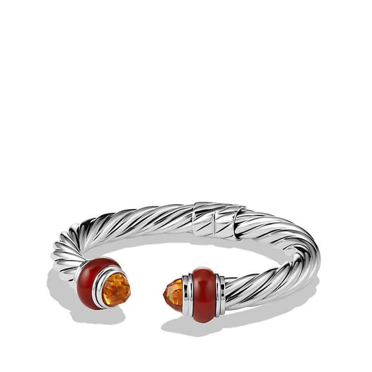 Cable Classics Bracelet with Citrine and Carnelian