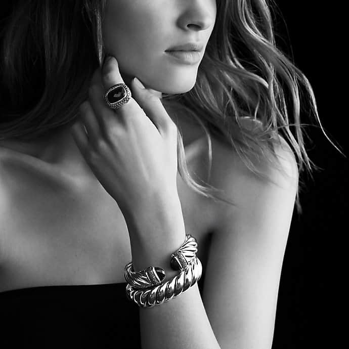 Waverly Bracelet with Black Onyx and Black Diamonds