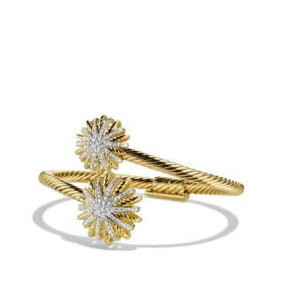 Starburst Open Bracelet with Diamonds in Gold