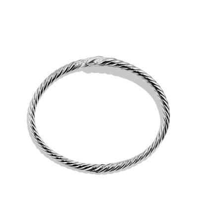 Willow Open Single-Row Bracelet with Diamonds, 11mm