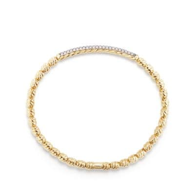 Pave Flex Bracelet in 18K Gold  with Diamonds, 3mm