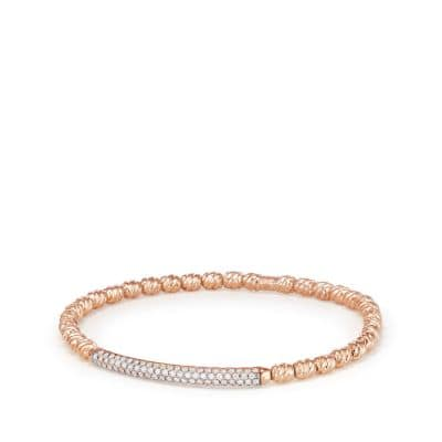 Pave Flex Bracelet in 18K Rose Gold with Diamonds