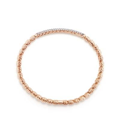DY Signature Couture Bracelet with Diamonds in Rose Gold