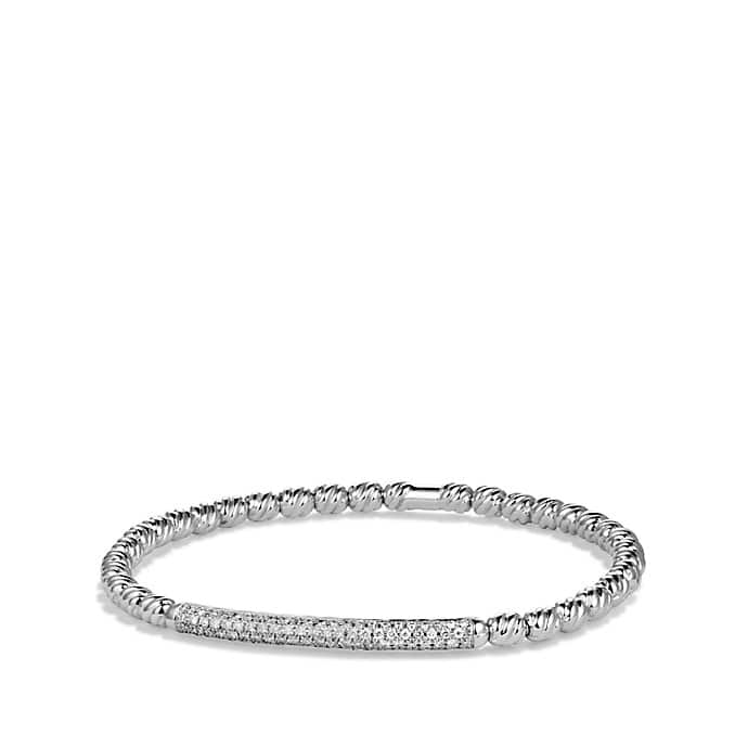 DY Signature Collection Couture Bracelet with Diamonds in White Gold