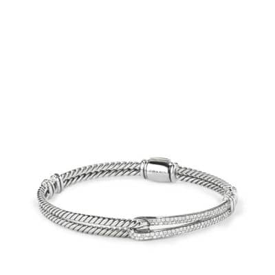 Petite Pavé Labyrinth Single-Loop Bracelet with Diamonds thumbnail