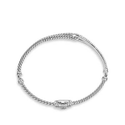 Petite Pavé Labyrinth Single-Loop Bracelet with Diamonds
