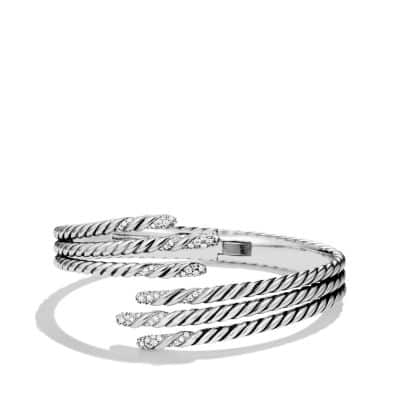 Willow Open Three-Row Bracelet with Diamonds