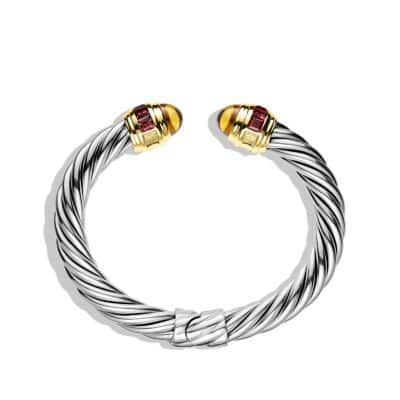 Renaissance Bracelet with Citrine, Rhodolite Garnet, and Gold
