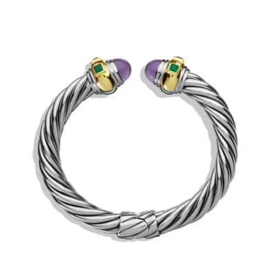 Renaissance Bracelet with Amethyst, Green Onyx, and Gold