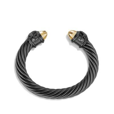 Renaissance Bracelet in Black and Gold Aluminum, 10mm
