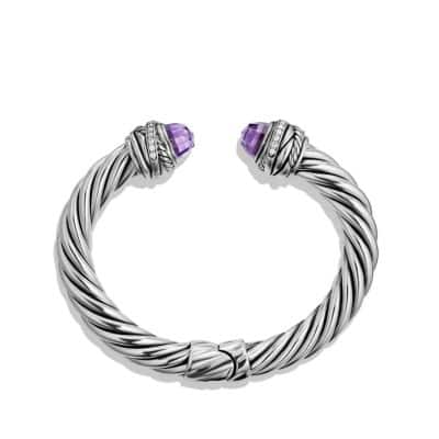 Crossover Bracelet with Amethyst and Diamonds