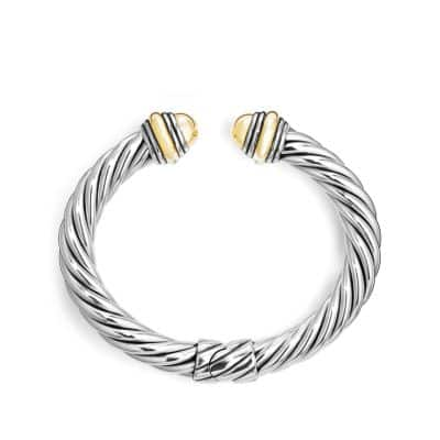 Cable Classics Bracelet with 14K Gold, 8.5mm