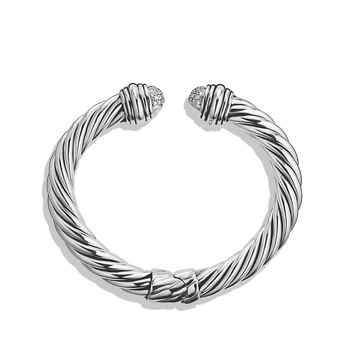 Cable Classics Pavé Tip Bracelet with Diamonds
