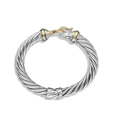 Buckle Cable Bracelet with Gold