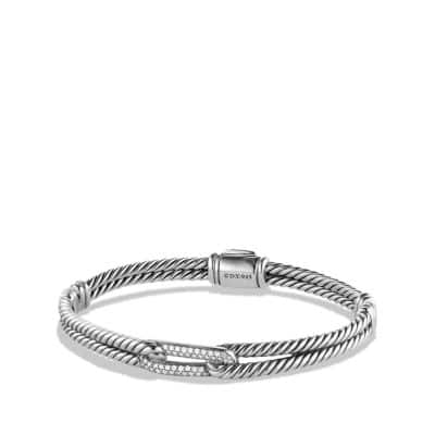 Petite Pavé Mini Loop Bracelet with Diamonds thumbnail