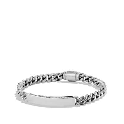 Petite Pavé Curb Link ID Bracelet with Diamonds thumbnail